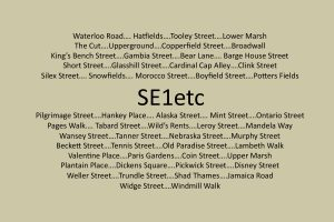 'SE1 etc' cover page
